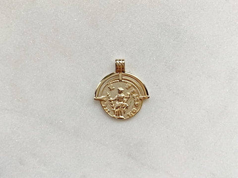 Rose Charm in 14K Gold