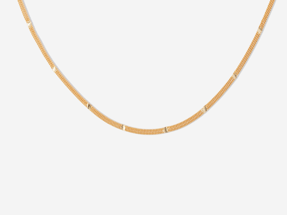 Selena Choker Necklace in 14K Gold