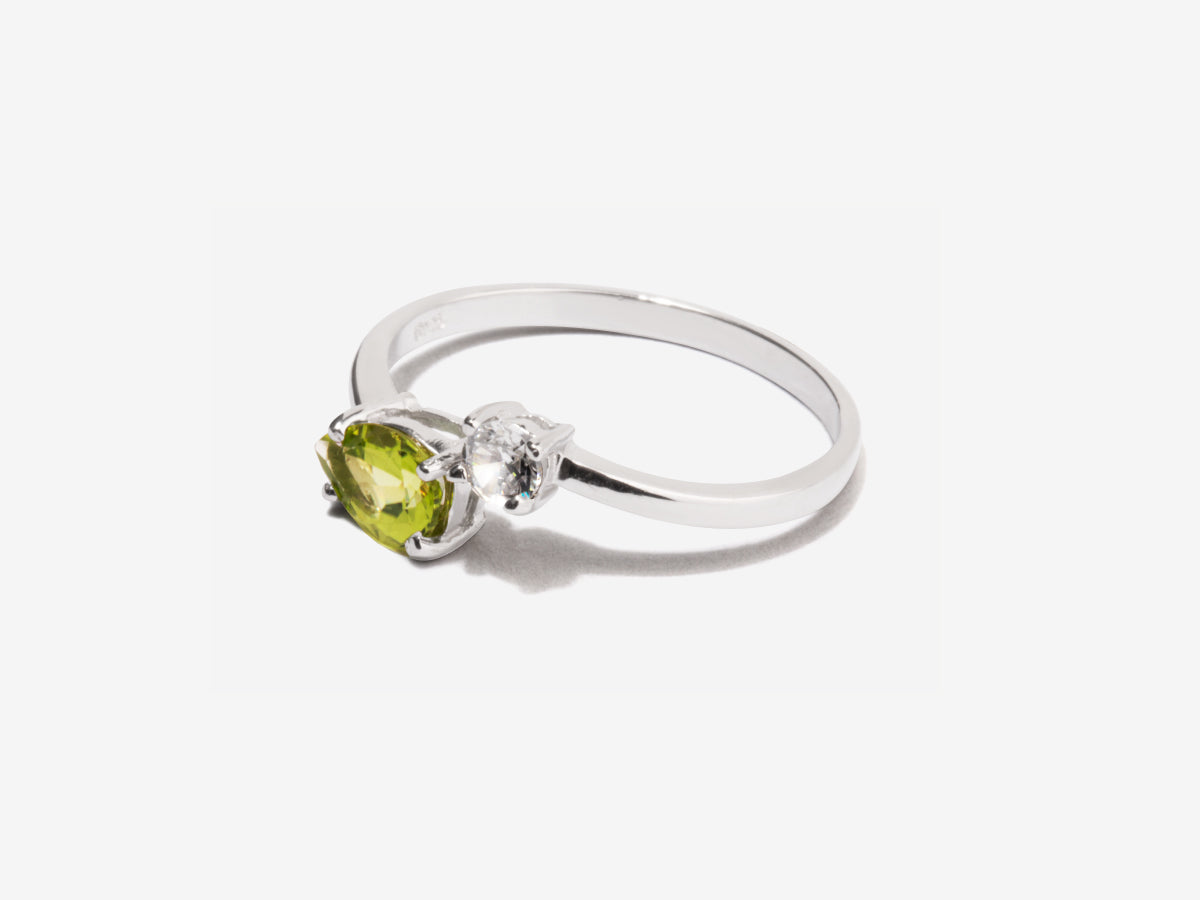 Serpentine Peridot Sterling Silver Wrap Ring