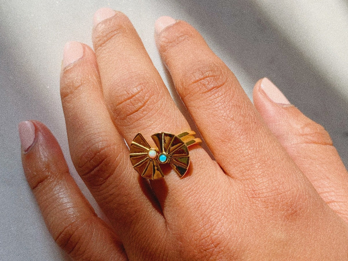 Shanzi Opal 14k Gold Ring