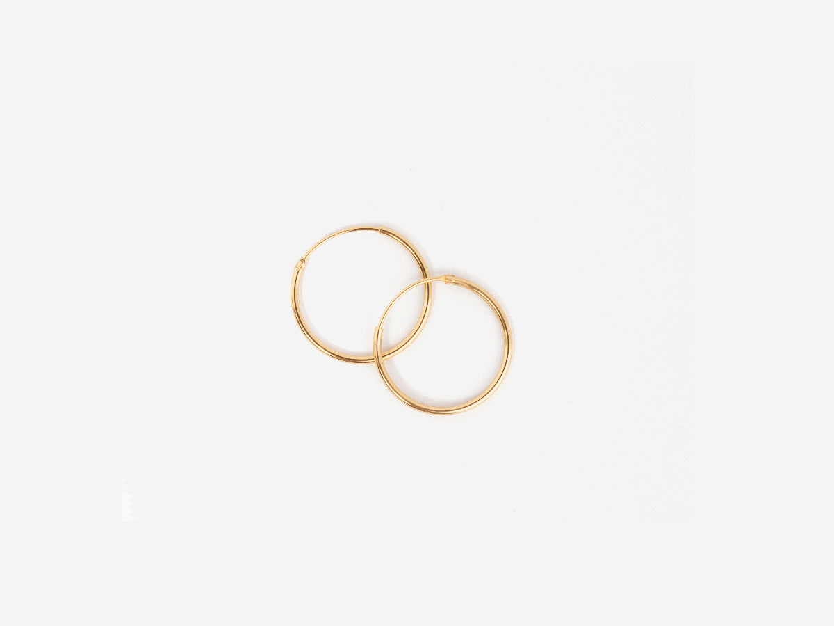Small Thin 14K Gold Hoop