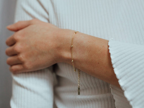 Spheres 14K Gold Chain Bracelet