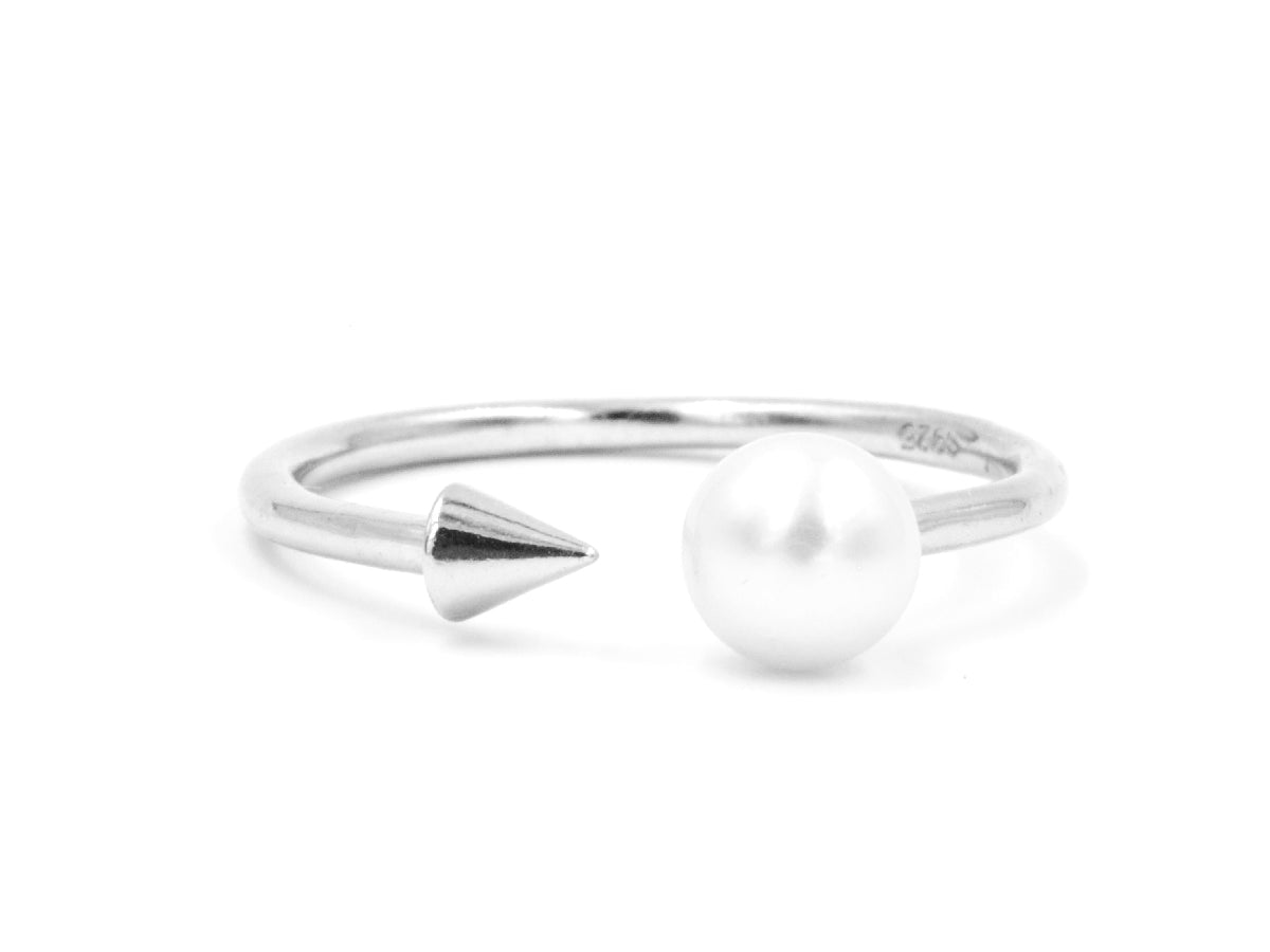 Spike Freshwater Pearl Sterling Silver Ring in Columbus Ohio