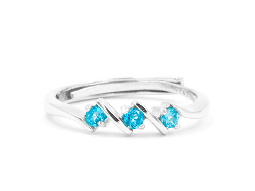Step - Blue Topaz Sterling Silver Ring