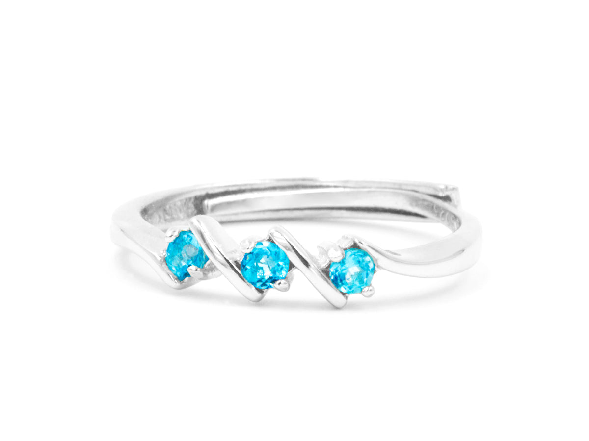 Step Blue Topaz Sterling Silver Ring in Columbus Ohio