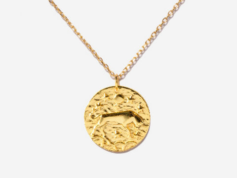 Smiley Face Necklace in 14K Gold