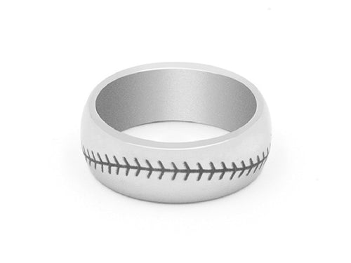 Baseball Stitched Engraved Tungsten Carbide Ring in Columbus Ohio