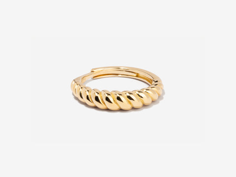 Beaded 14k Gold Ring