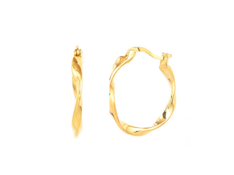 Huggie Hoop Earrings in 14k Gold
