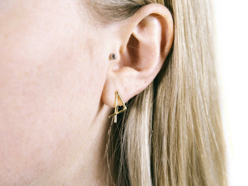 Zhe 14K Gold Vermeil Earrings