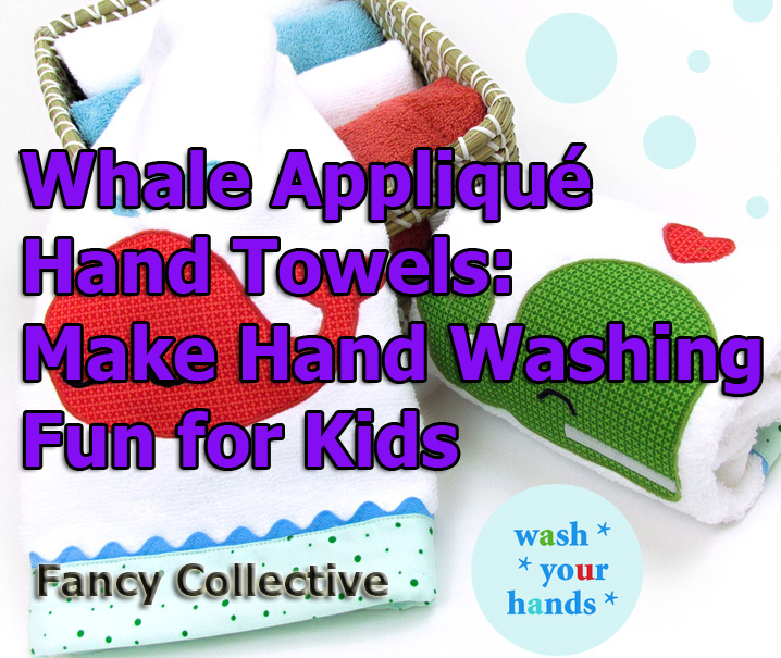 Whale Appliqué Hand Towels: Make Hand Washing Fun for Kids