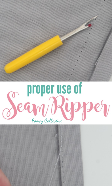 PROPER SEAM RIPPER USE & TIPS