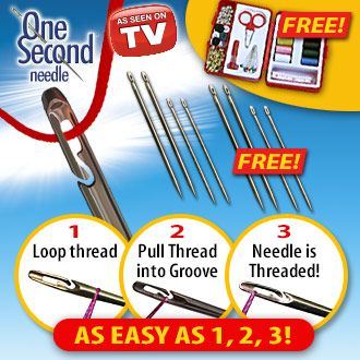 One Second Needle - Free Bonus Sewing Kit!