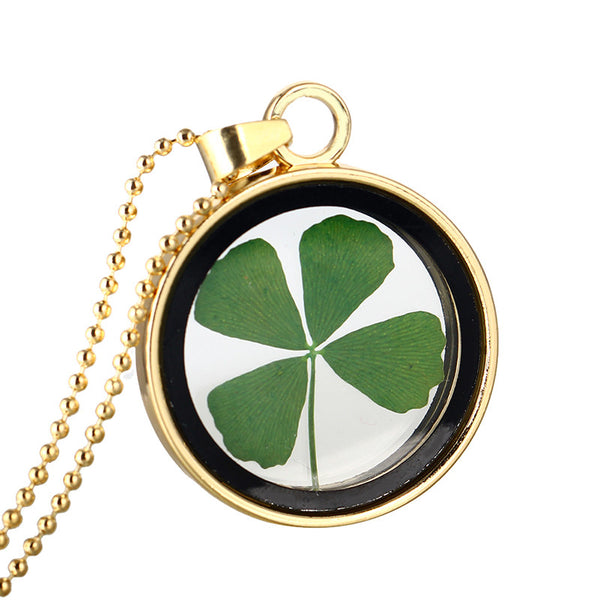 Diva Organic 4-Leaf Clover Lucky Necklace