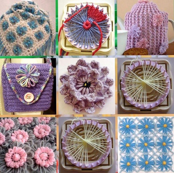 Knitted™ Premium Flower Weaver Loom Set (9 in 1)