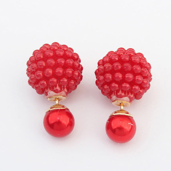 Diva Classy Beaded Globe Earrings