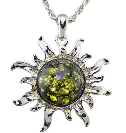 Diva Aztec Sun Charm Necklace