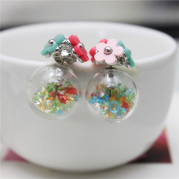 Diva Candy Daisy Globe Earrings