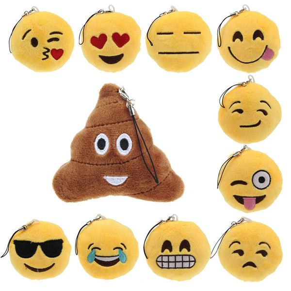 Cute Emoji Smiley Keychain Holder