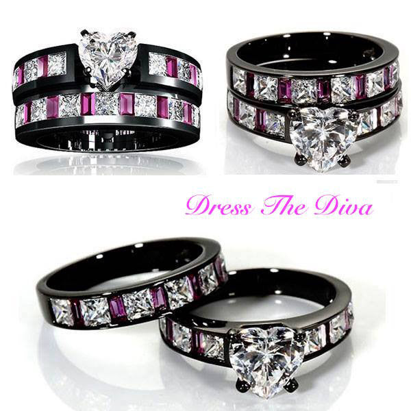 Diva Heart-Shaped Princess Ring