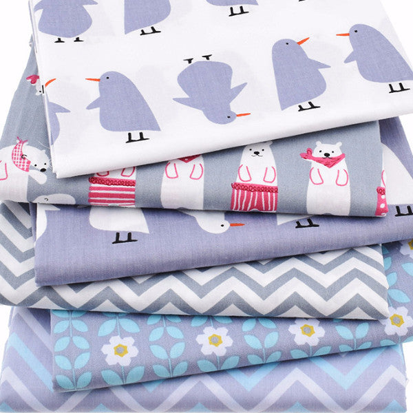 "6-Piece Cute Animal Fabric Set (19.7"" x 15.74"" / 40x50cm)"