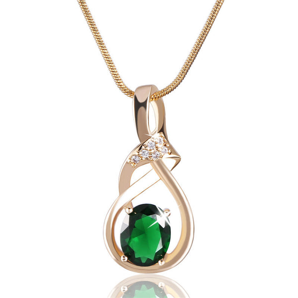 Diva Birthstone Pendant Necklace