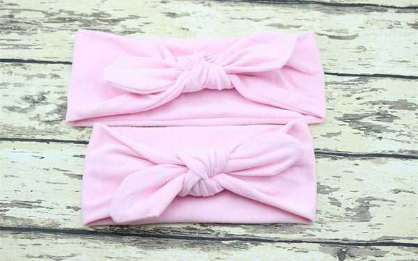 Front Knotted Ribbon Headband Set (Mommy & Me)