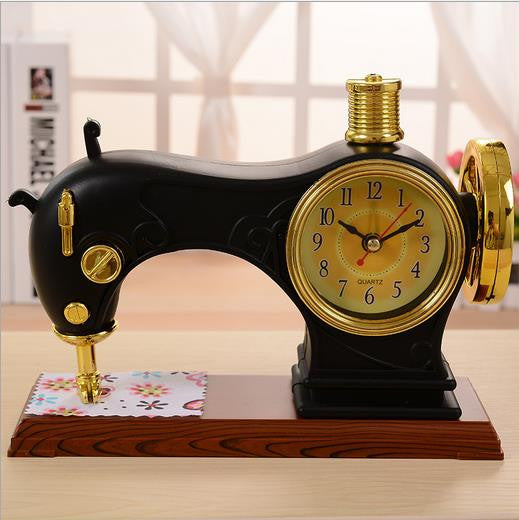 Vintage Sewing Machine Table Clock