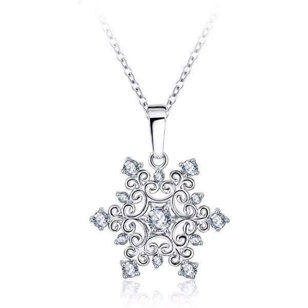 Classic Snowflake Necklace