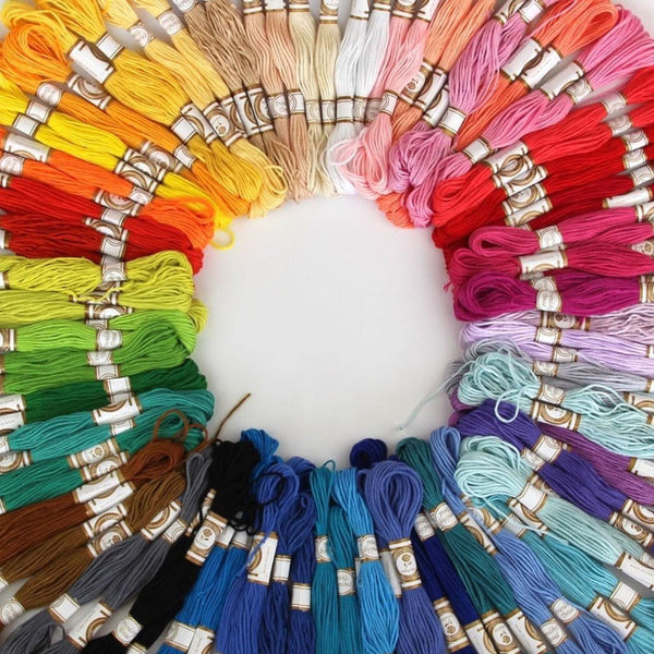 Cross Stitch Cotton Embroidery Thread (50/100 Colors)