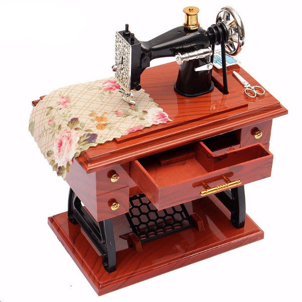 [Limited Edition] Vintage Sewing Machine Music Box