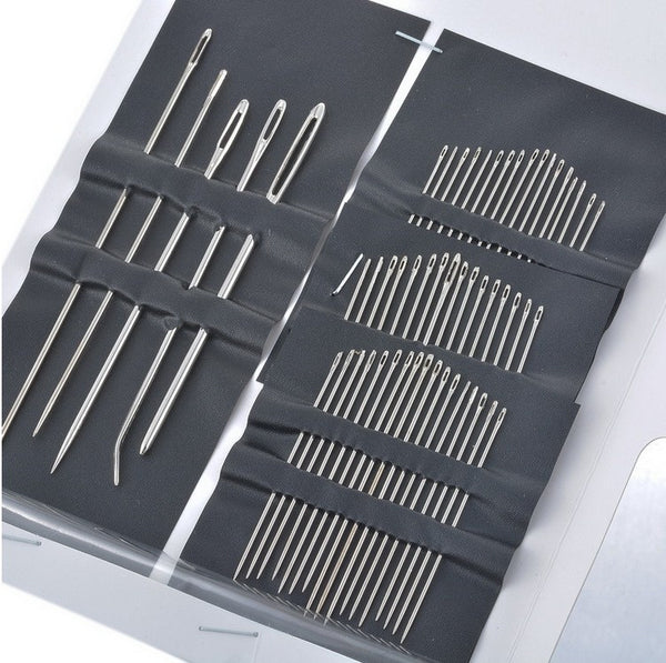 Stainless Steel Sewing Needles Set (55 Pieces)