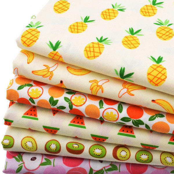 "6-Piece Joyful Fruits Fabric Set (19.7"" x 15.7"" / 40 x 50cm)"