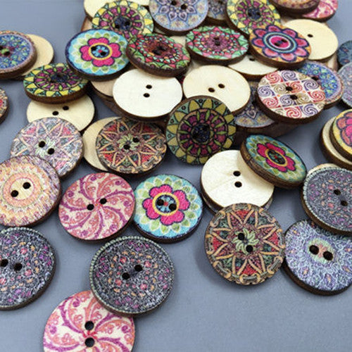 Vintage Decorative Buttons (100 Pieces)