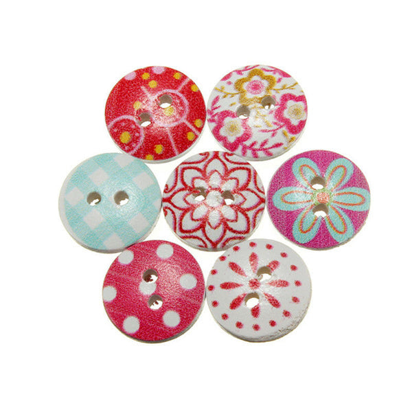 Multicolor Decorative Buttons (80 Pieces)
