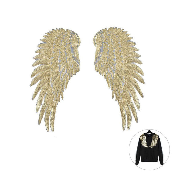 Grit™ Angel Wings Iron-On Embroidered Appliques