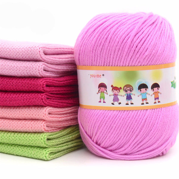 Cotton Silk Knitting Yarn (1 Roll)