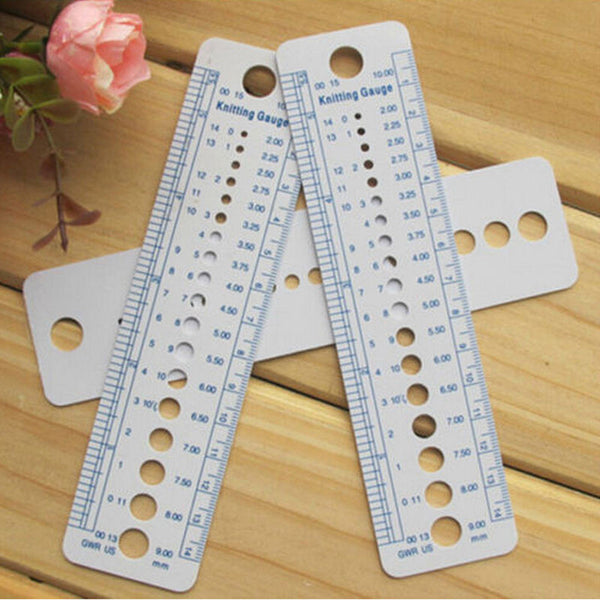 Knitting Needle Measuring Ruler