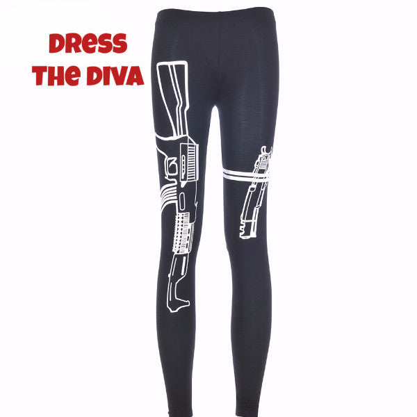Machine Gun Print Leggings