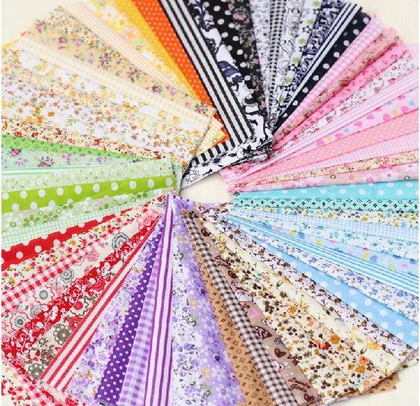 50-Piece Rainbow Cotton Patchwork (4'' X 4'')