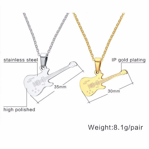 Rockstar Guitar Necklace (18K Gold Plated)