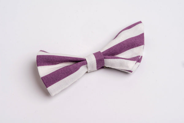 Folded Bow- Purple Stripe