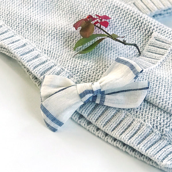Plaid Linen Bow