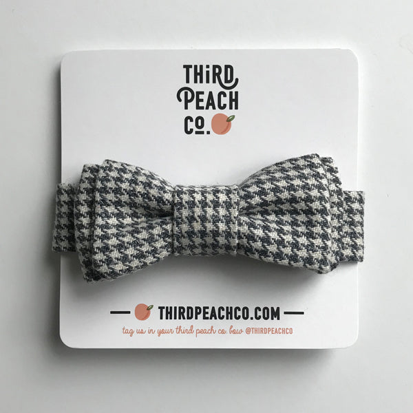 Bow Tie - Grey Houndstooth