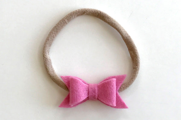 Bubble Gum Mini Felt Bow