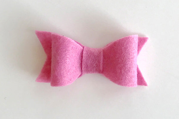 Bubble Gum Felt Bow
