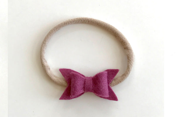 Mulberry Mini Felt Bow