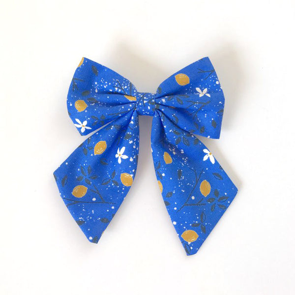 Little Miss Sailor Bow - Blue Lemons
