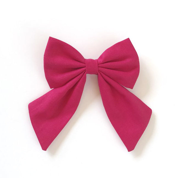 Little Miss Sailor Bow - Hot Pink