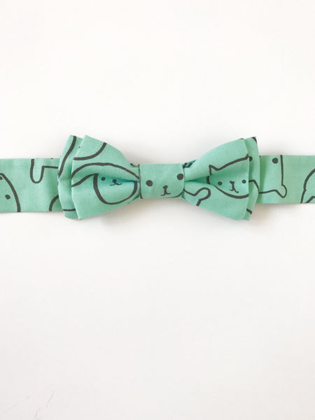 Bow Tie - Teal Critters